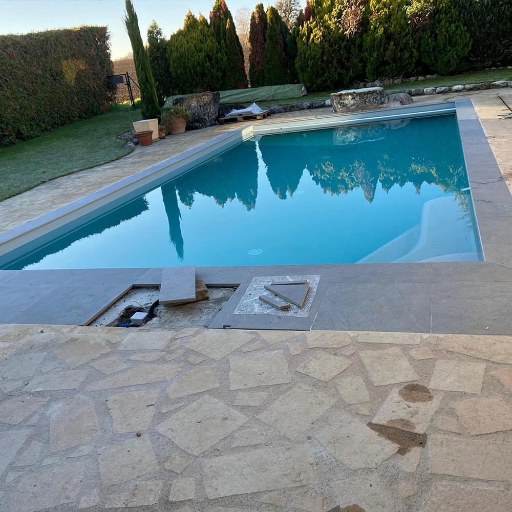 Rénovation piscine béton