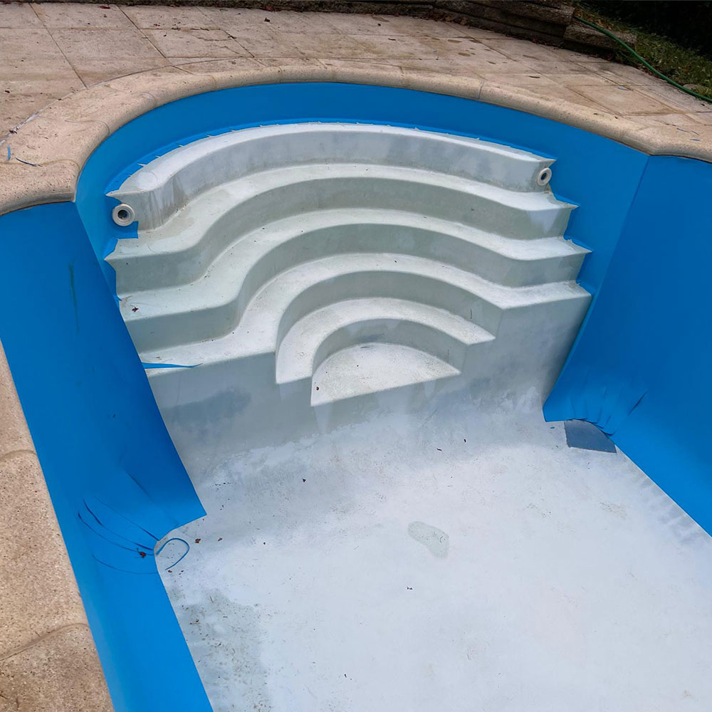 Rénovation piscine coque polyester